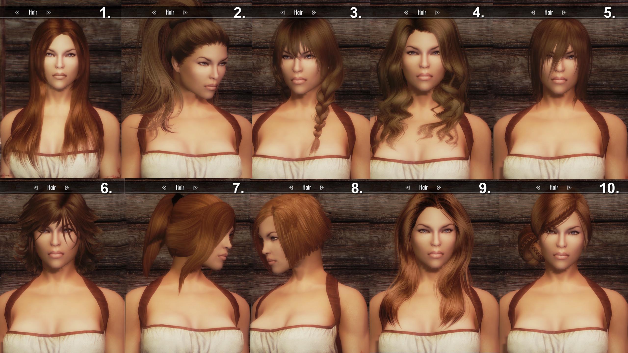 Прически и волосы для skyrim